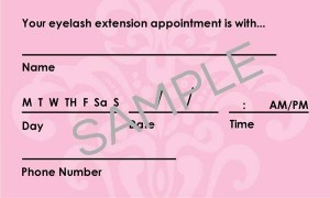 Reduce no-shows by using an appointment card