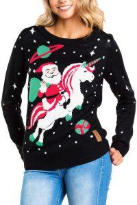 Womens-unicorn-christmas-sweater