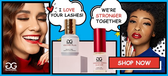 Shop Eyelash Extensions at GladGirl - New Glue Aid